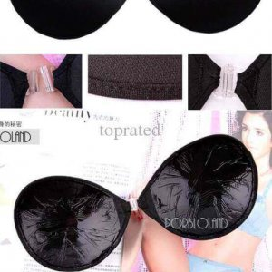 Nude Black Strapless Backless Invisible Self-Adhesive Silicone Breast Bra Pad