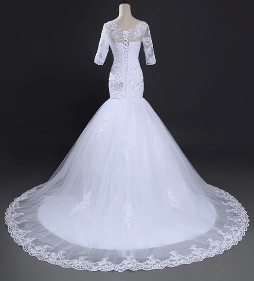 Designer Wedding Gown Rental: Fit And Flay Mermaid Wedding Gown For Rent In Lagos