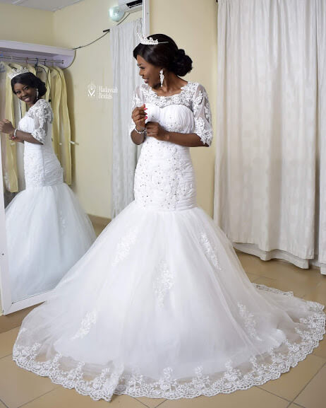 Fit And Flay Mermaid Wedding Gown For Rent In Lagos