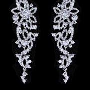 FLORAL PATTERN BRIDAL EARRINGS