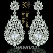 Tear Drop Crystal Bridal Earrings