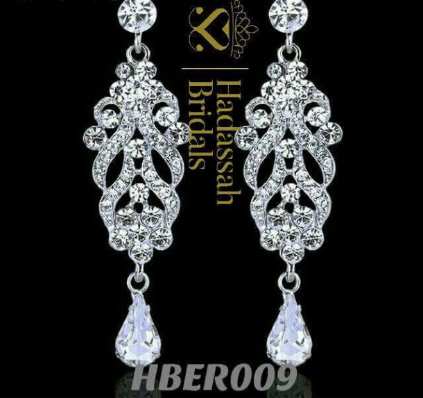 Crystal Floral Bridal Drop Earrings
