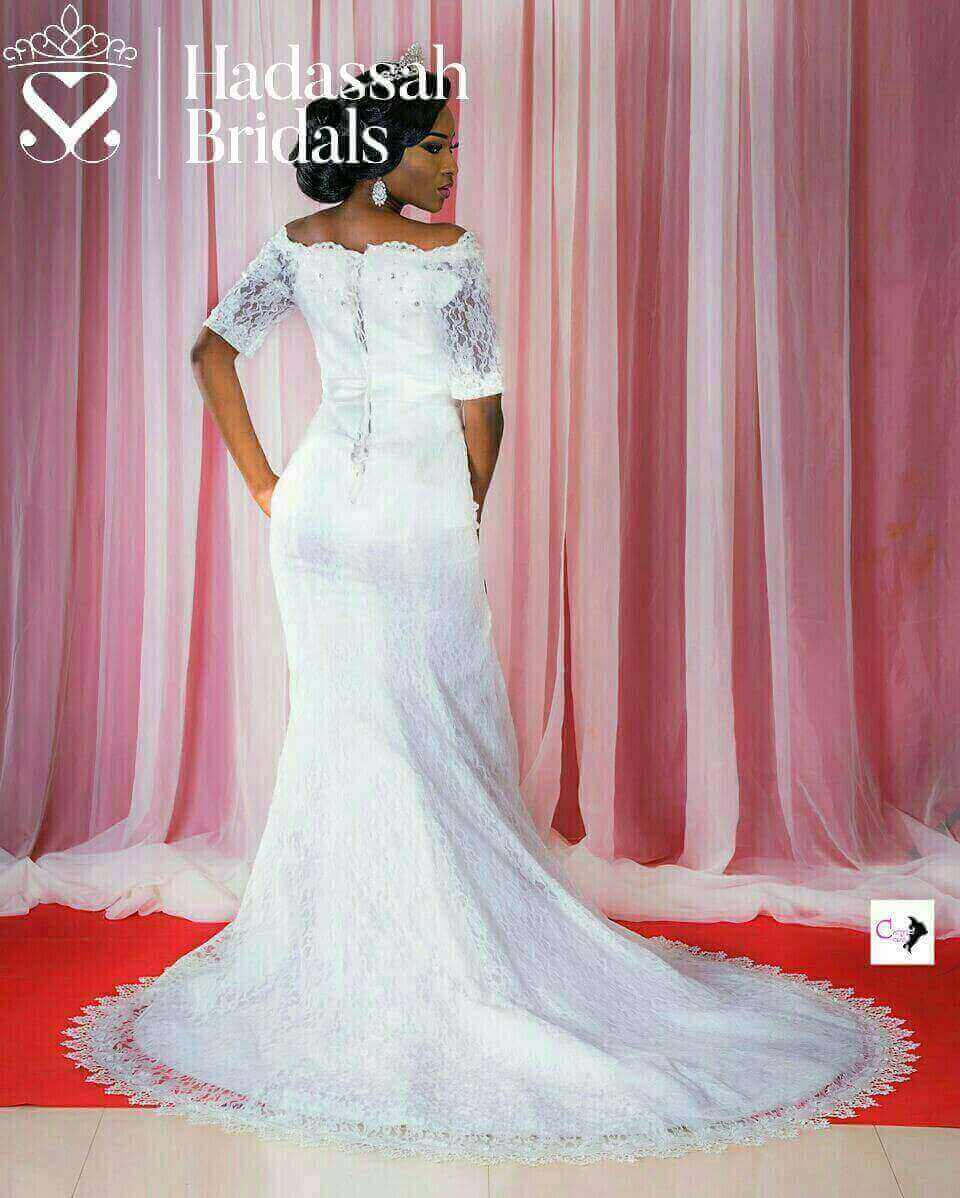 OFF SHOULDER MERMAID WEDDING GOWN WITH BELT | Hadassah Bridal House