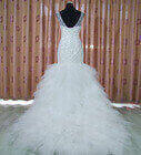 Full beaded bodice mermaid wedding gown