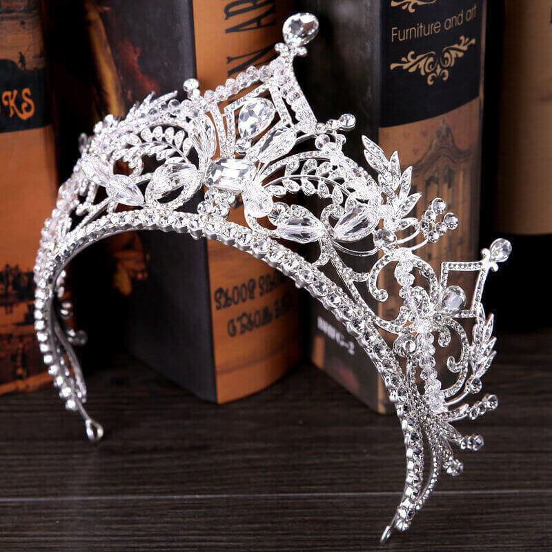 HIGH CRYSTAL BRIDAL TIARA