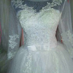 BALL GOWN WEDDING GOWN WITH SLEEVES