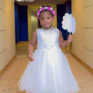 Elegant Little Bride's Dress In Nigeria