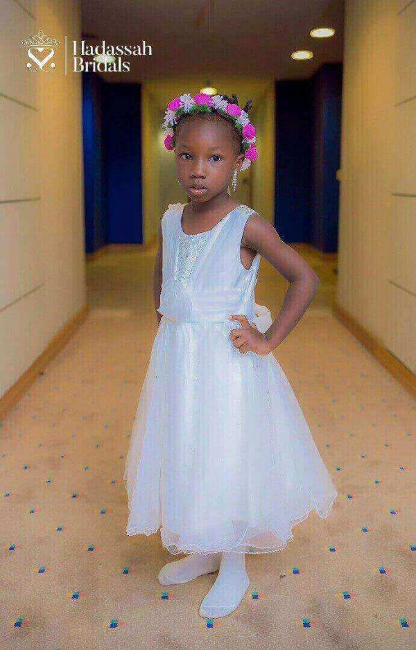 Elegant Little Bride's Dress In Nigeria
