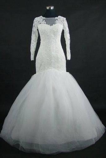 Mermaid Wedding Gown With Sleeves