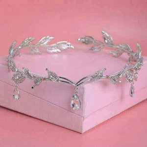 Water Drop Leaf Pattern Bridal Crown