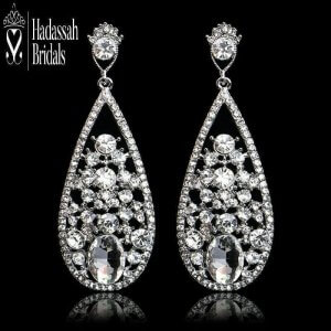 Water Drop Bridal Earrings For Sale