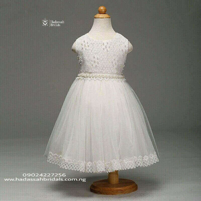 Beautiful Little Bride's Dress In Lagos