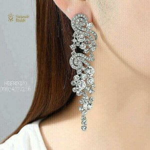 Beautiful Silver Crystal Bridal Earrings In Lagos