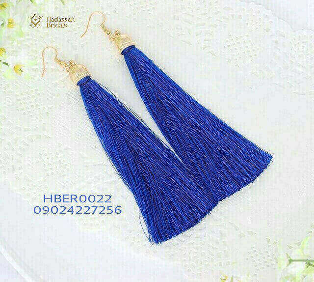 Blue Tassel Fashion Earrings