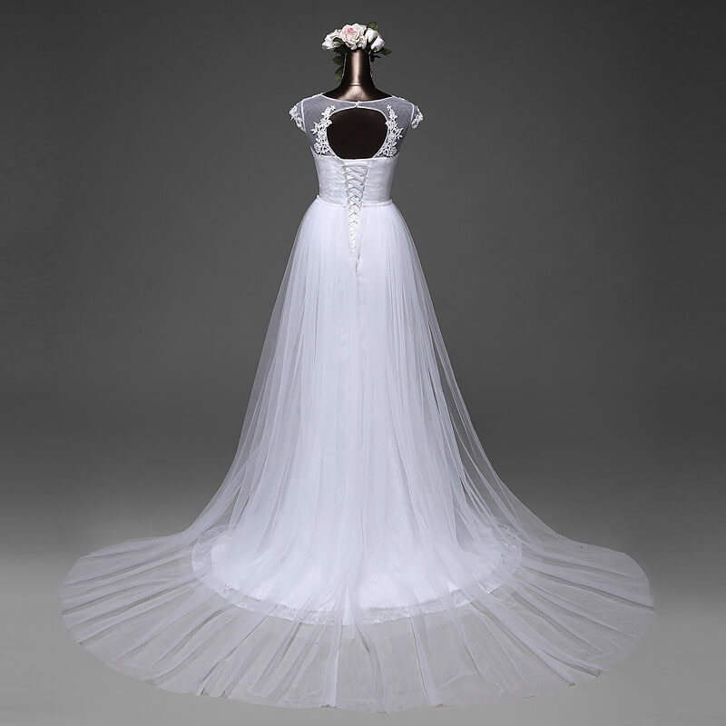 Wedding Dresses With Detachable Tail: Beautiful Mermaid Wedding Gown With Detachable Skirt