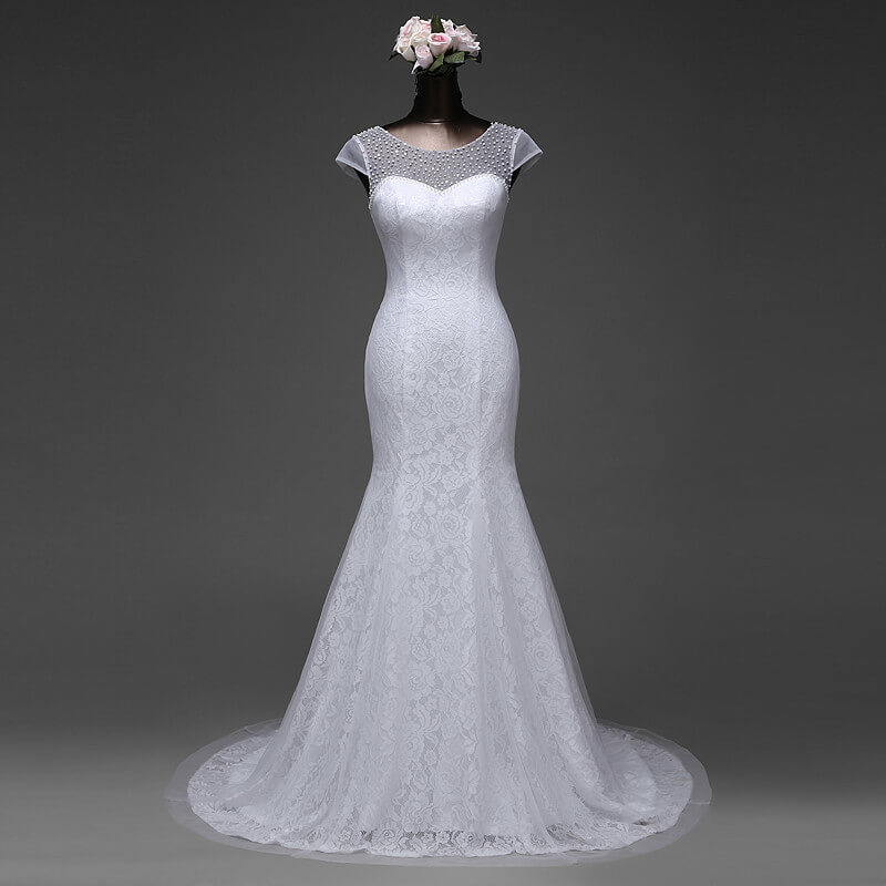 Beaded Top Mermaid Wedding Gown For Rent In Nigeria