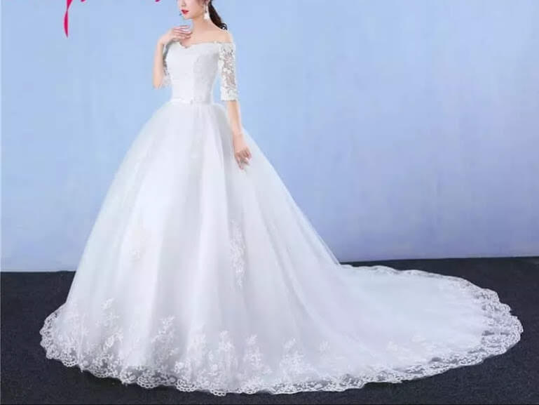 Ball Wedding Gown With Sleeves For Rent In Lagos Hadassah Bridal House