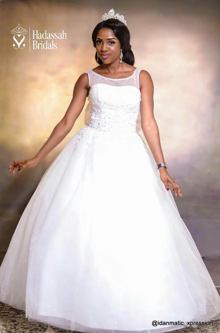 Sleeveless Beaded Bodice Ball Wedding Gown For Rent In Lagos ...