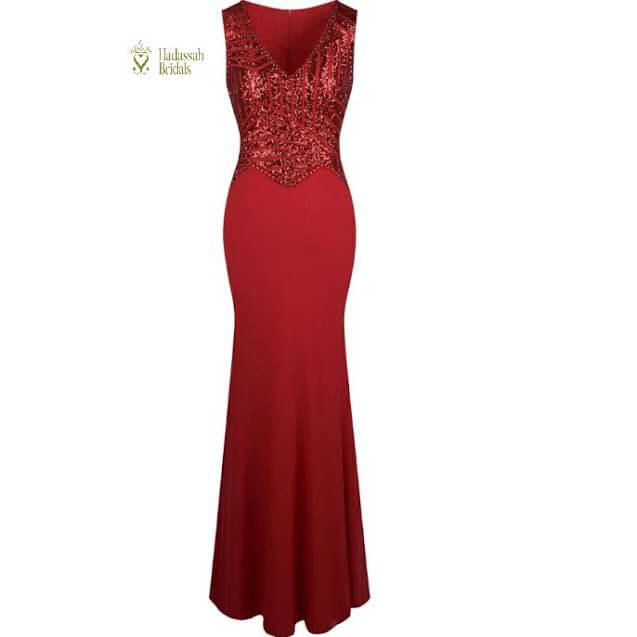 292cb24189 V Neck Sequins Reception Dress In Nigeria
