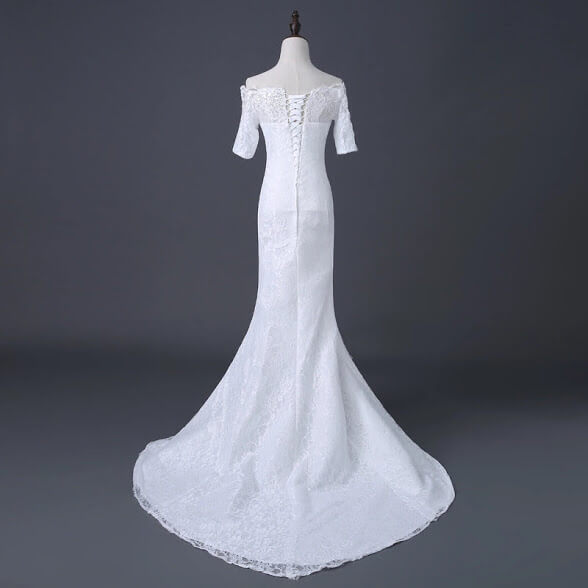 Back Houses For Rent: Off Shoulder Mermaid Wedding Gown For Rent In Lagos