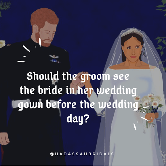 Should The Groom See The Wedding Dress Before The Wedding Day?