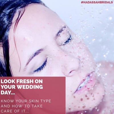Look fresh on your wedding day