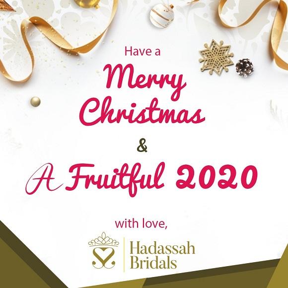 Season greetings from Hadassah Bridals