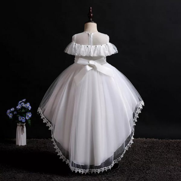 Off-white High Low Little Bride's Dress