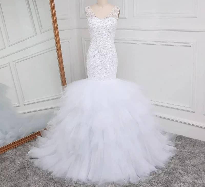 Beaded Mermaid Luxury wedding gown