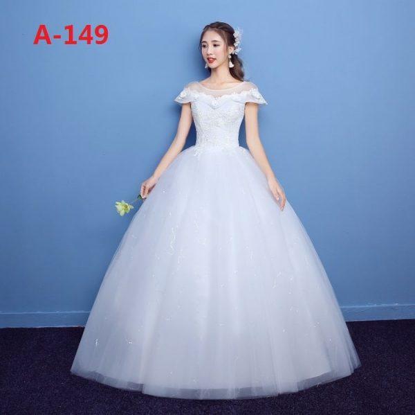 floor length ball wedding gown