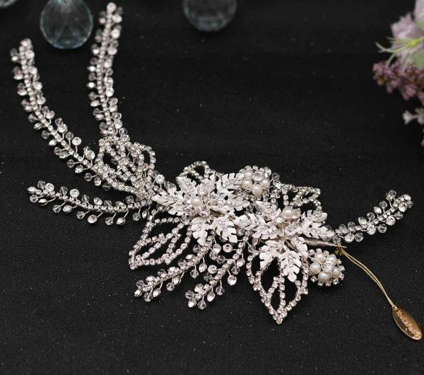 Silver Bridal Hair Vine