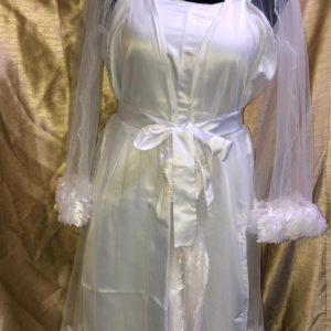 luxury bridal robe