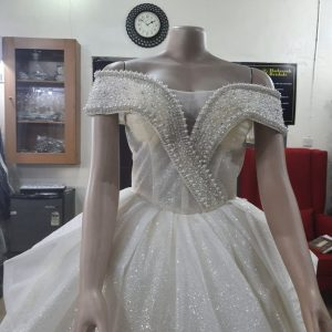 Sparkling Off-Shoulder Ball Gown