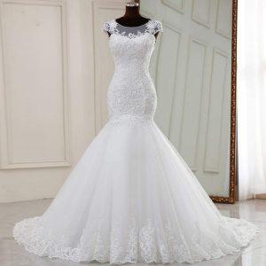 Sleeveless Plus Sized Mermaid gown